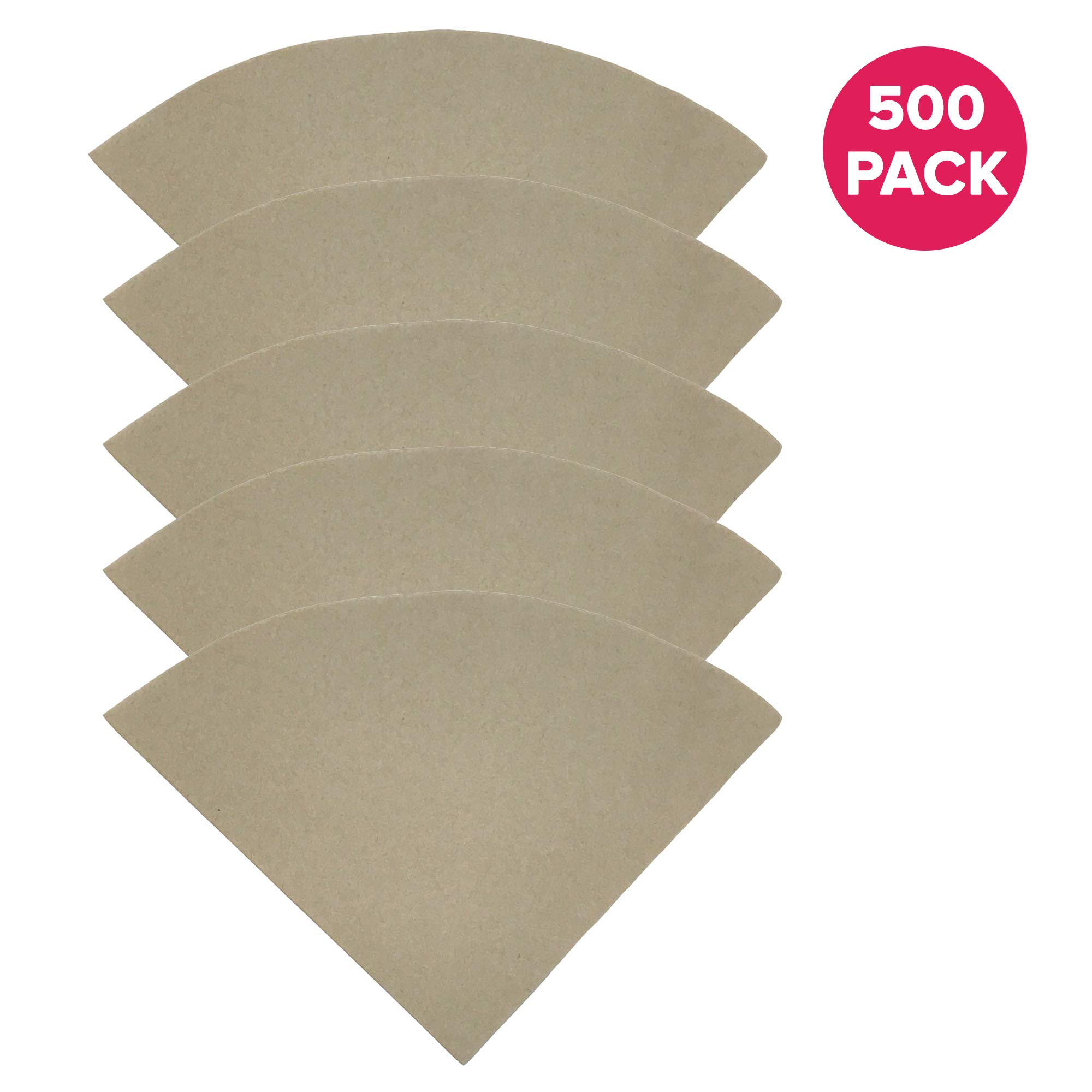 Think Crucial Compatible Replacement Unbleached Paper Coffee Filters For 6, 8 & 10 Cup Chemex-Brand Coffee Makers (500 Pack)
