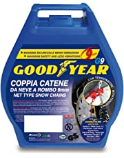 "Goodyear 77910 ""G9"", Catene neve auto 9 mm, Misura 095, Omologate TUV e GS Onorm"