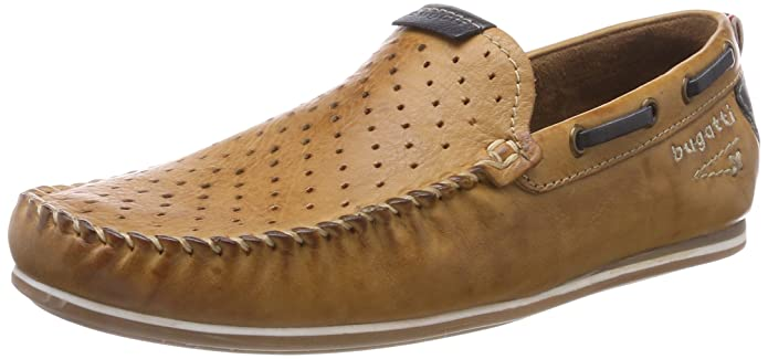 Mens 321469631469 Moccasins, Dark Blue Bugatti