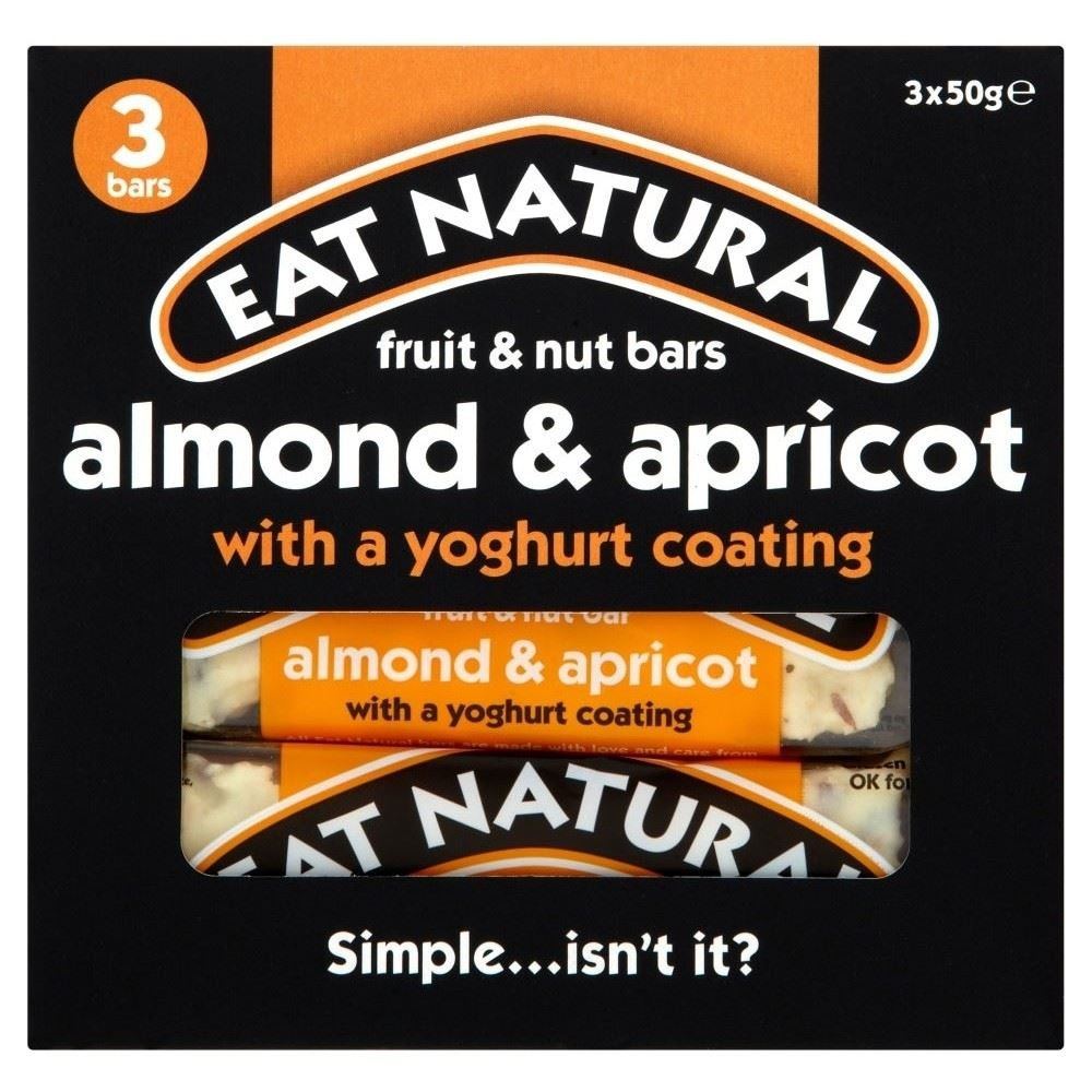 Eat Natural Yoghurt Coated Almond & Apricot Bars (3x50g) - Pack of 6