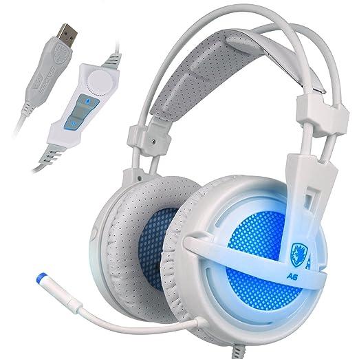 72 opinioni per SADES A6- Cuffie Surround 7.1 USB per PC Gaming, con Microfono ad Alta