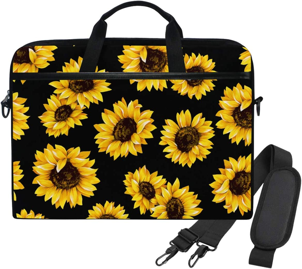 WIHVE Sunflowers Unisex Laptop Sleeve Messenger Shoulder Bag for 14-13 Inch Computer