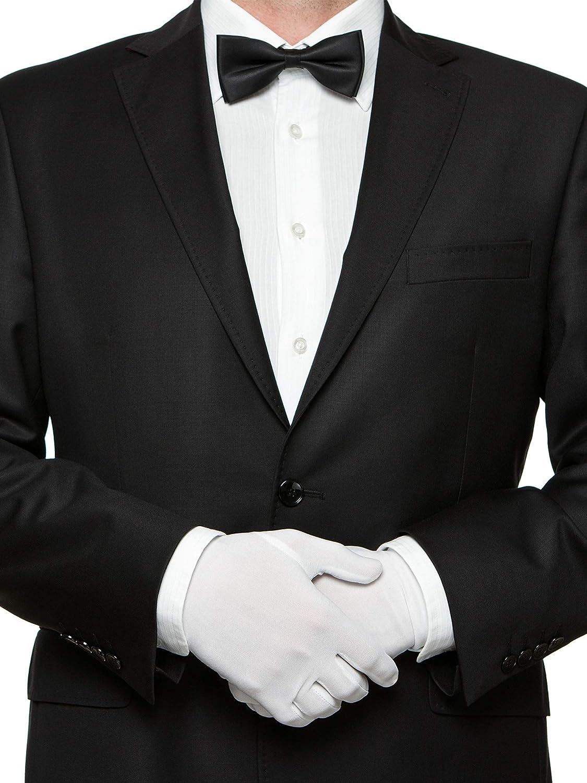 6 Pairs White Nylon Cotton Gloves for Police Formal Tuxedo Guard ...