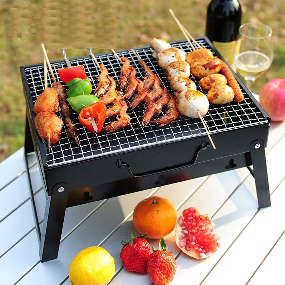 MENG Barbecue Portatile, Piccolo Barbecue A Carbone, Barbecue Portatile per Feste All'aperto in Giardino, ECC. 35 * 27 * 20CM,Trumpet Package a2 Trumpet Package B1