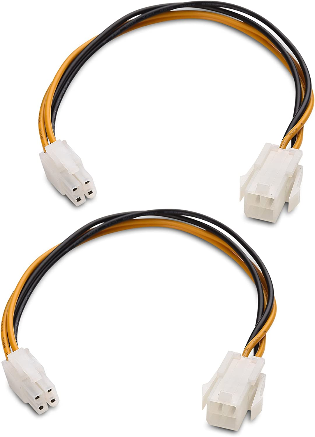 Male To Female CPU 4 Pin ATX Power Supply Extension Cable Connector Cord Adapter