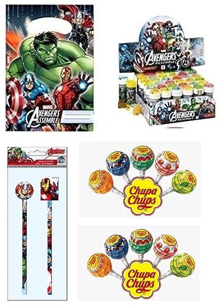 Irpot Kit 6 Regalini Dopo Festa Gadget Compleanno Bambino Avengers