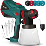 Scuddles Paint Sprayer, 1200 Watt High Power HVLP Home, and Outdoors Includes 5 Nozzle, Lightweight, Easy Spraying and…