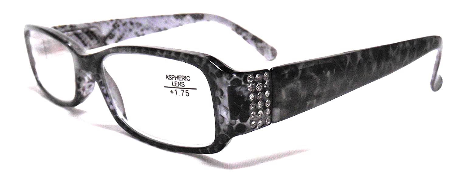 b4c46dc280b Amazon.com  Optical Reading Glasses Sophisticated Design Women LIZZIE  Ladies Eyeglasses w Rhinestones + Soft Pouch +3.00  Health   Personal Care