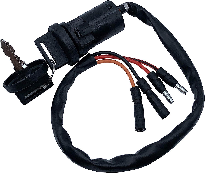 SHUmandala 4 Wires Ignition Key Switch fit Honda 300 TRX300 TRX300FW FOURTRAX 1990-2000 ATV/ATC Big Red 200E 200ES 200M 125M 1982-1984 35010-958-680