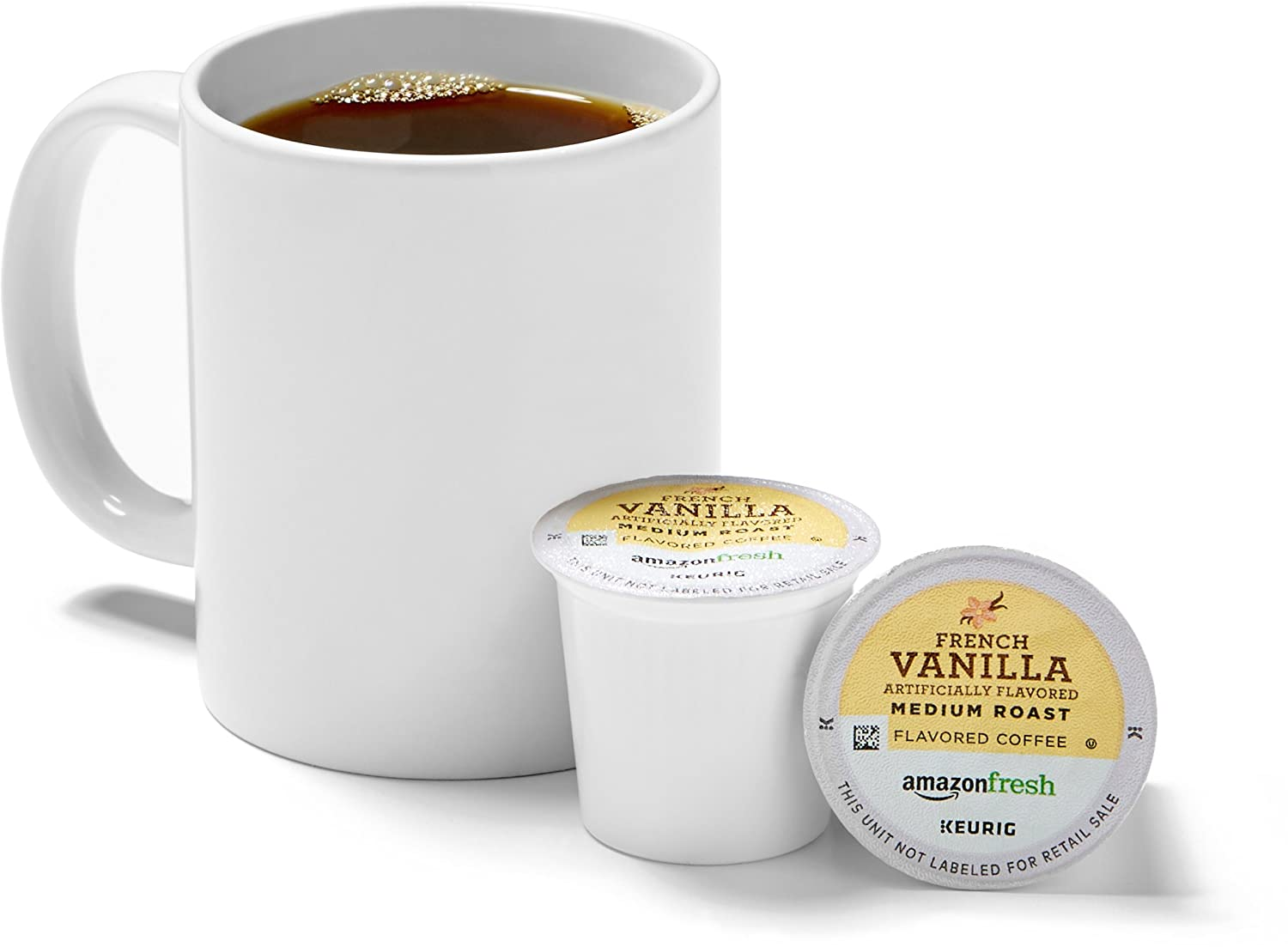 AmazonFresh 80 Ct. K-Cups, French Vanilla Flavored Medium Roast, Keurig K-Cup Brewer Compatible