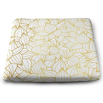 Sanghing Customized Golden White Striped Succulent Plant Texture Drawing 1.18 X 15 X 13.7 in Cushion, Suitable for Home Office Dining Chair Cushion, Indoor and Outdoor Cushion.: Home & Kitchen