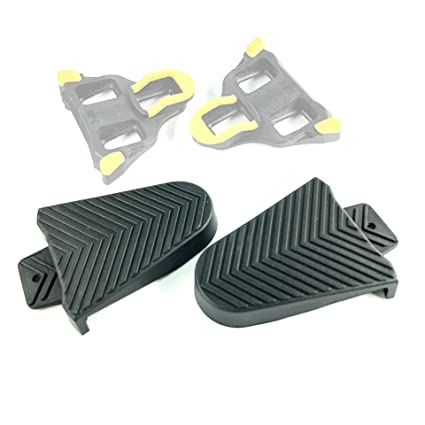 b4e6cc0191419 Thinvik Bicycle Shoe Cleat Rubber Cover Set for Shimano SPD-SL Pedal Cleats  Systems