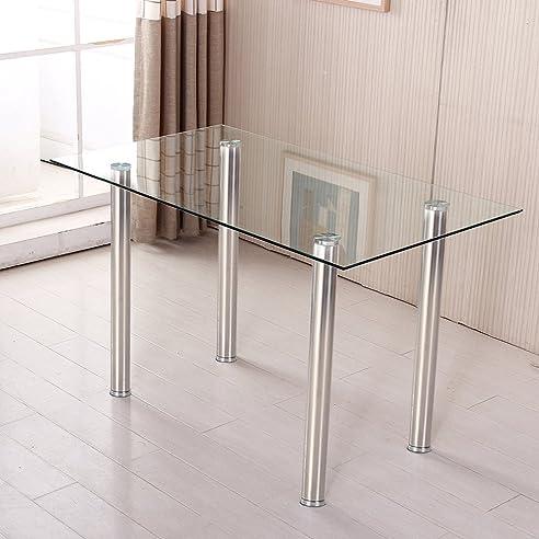 esstisch chrome glass