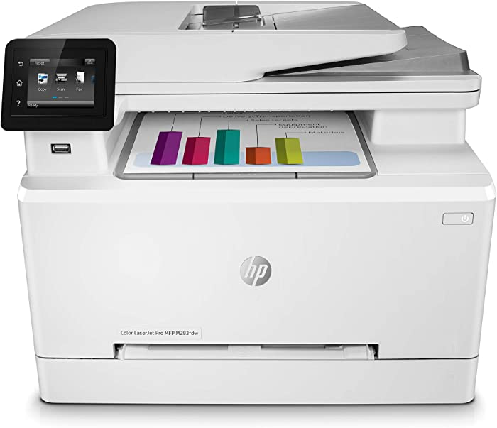 HP Color LaserJet Pro M283fdw Wireless All-in-One Laser Printer, Remote Mobile Print, Scan & Copy, Duplex Printing (7KW75A), White, Model:7KW75A#BGJ