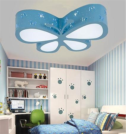malovecf – Lámpara de techo para dormitorio dormitorio lámpara LED creativos mariposa iluminación Guardería niña Princesa habitación iluminación, 50 * ...