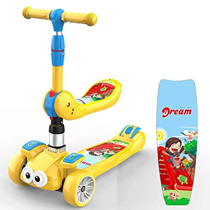 Amazon.com: Patinete plegable para niños con ruedas para ...