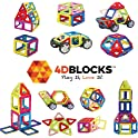 4D Blocks 40-Piece Magnetic Building Blocks Set