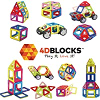 4D Blocks 40-Pc. Magnetic Building Blocks Set
