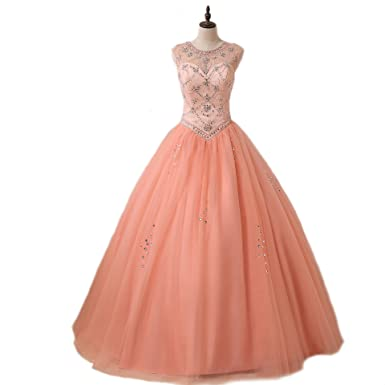 Weddingdazzle Ball Gown Beaded Pink Wedding Dress Plus Size For