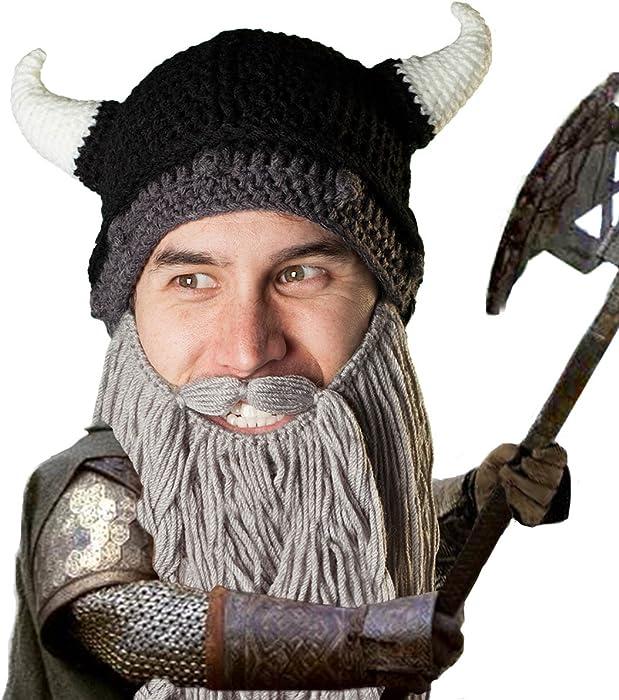 Beard Head Berretto Barba – Predone Vichingo - Cappello Divertenti con  Barba Finta 3255b0cd0d17