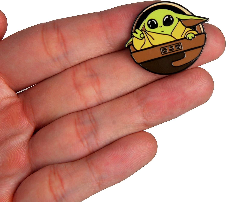 BeAwesome Baby Yoda Enamel Lapel Pin Cute Lapel pin Baby Yoda#2 Cute Enamel pin for Backpacks