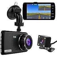 【2021 New Version】CHORTAU Dual Dash Cam Full HD 1080P 170° Dash Camera 4.0 Inch Screen Dash Cam Front and Rear…