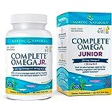 Nordic Naturals Complete Omega Jr, Lemon - 90 Mini Soft Gels - 283 mg Total Omega-3s & 35 mg GLA - Healthy Cognition, Nervous