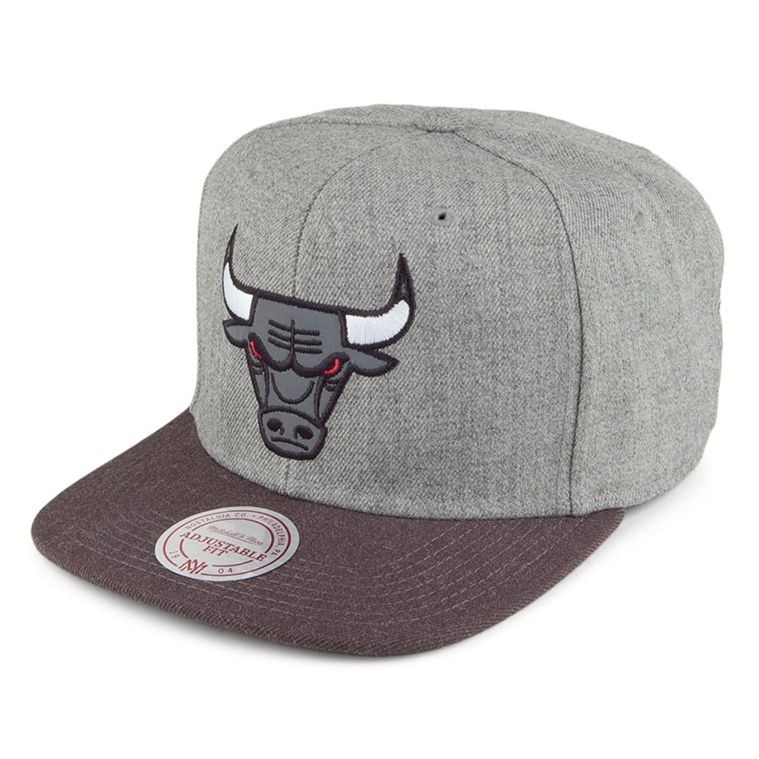 Mejor Gorra Heather Reflective Chicago Bulls Mitchell   Ness-Gris-Antracita b8d84df27e9