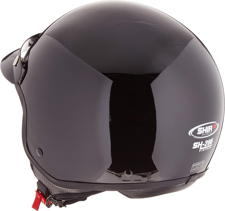 tama/ño XS color negro mate Shiro Jet Casco SH206