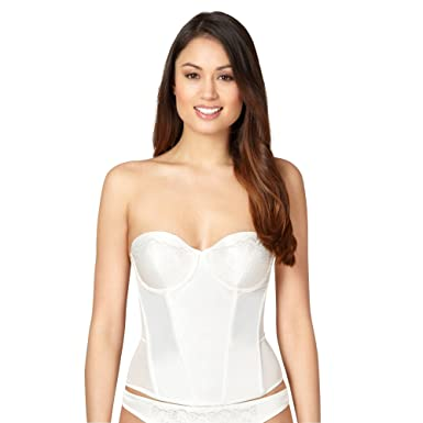 8a54ab28f Debenhams Reger By Janet Reger Womens Ivory Satin Bridal Basque  Reger by Janet  Reger  Amazon.co.uk  Clothing