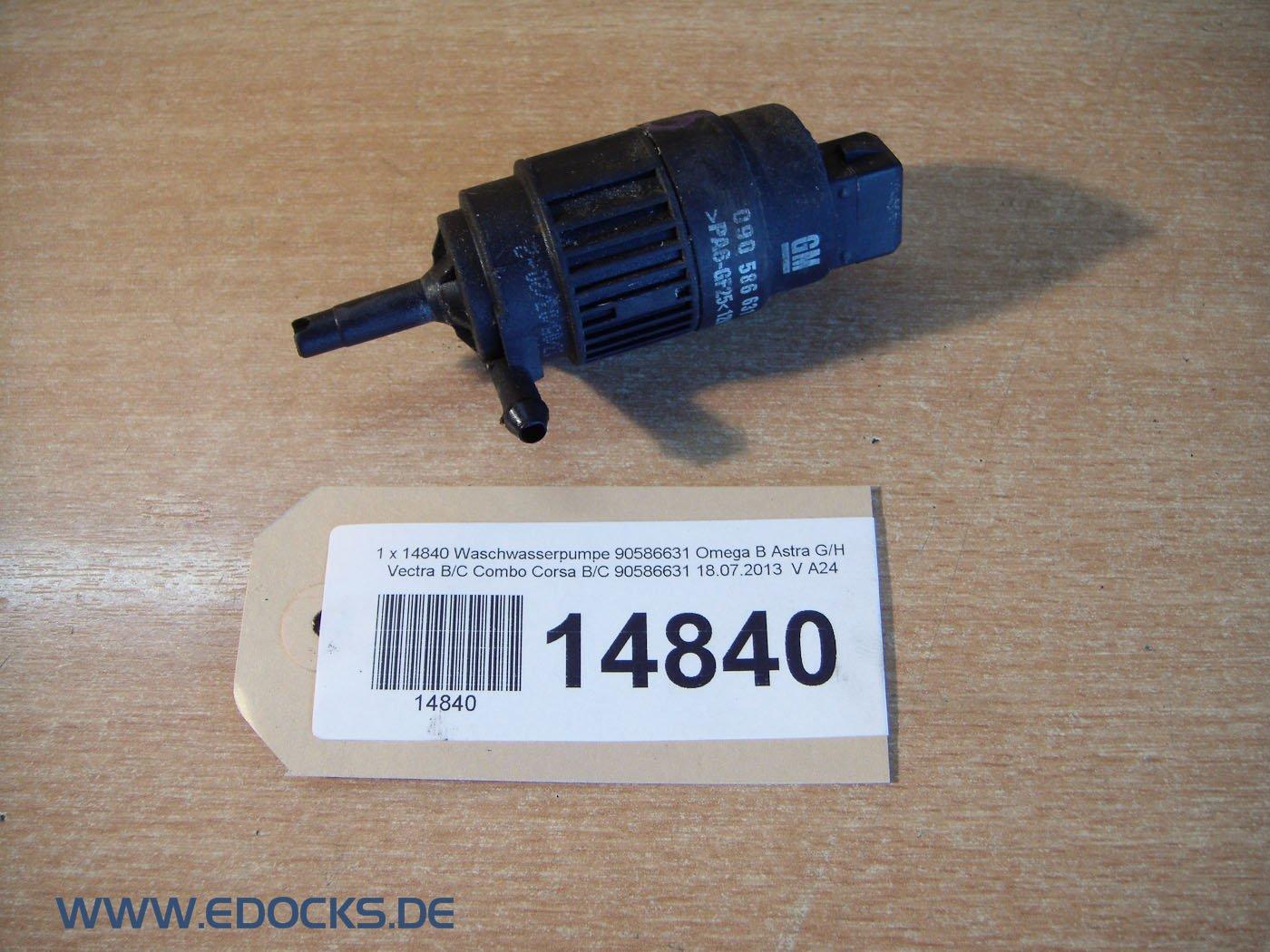 Bomba limpiaparabrisas 90586631 Omega B Astra G/H Vectra B/C Combo Corsa B/C Opel: Amazon.es: Coche y moto