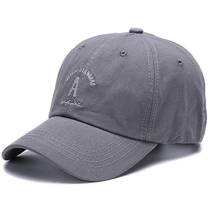 26a637e1e25 Baseball Cap for Women Letter A Sports Hats Men Hip hop Cap Cotton Soft dad  hat