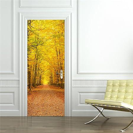 ZHANGQI 3D Ideen Herbstlaub Landschaft Renovieren Dekoration ...