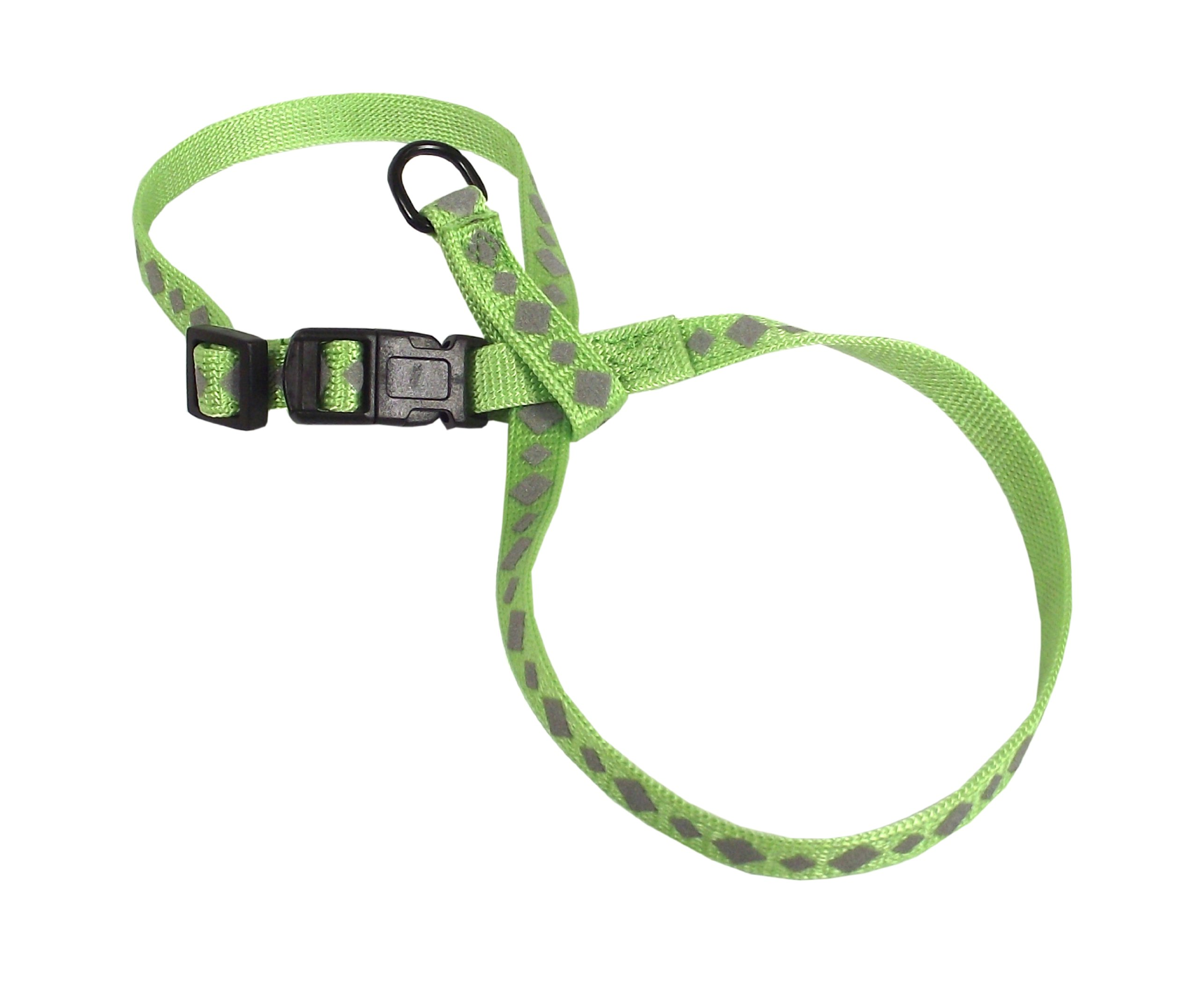 Hamilton 3/8-Inch Adjustable Reflective Figure 8 Pup-Cat Harness, Large, Lime