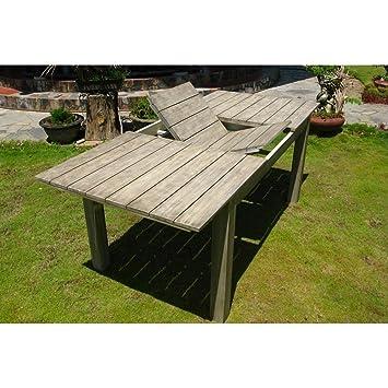 Ausziehtisch Akazie Grau Gray Old 150200 X 100 Cm Design Möbel