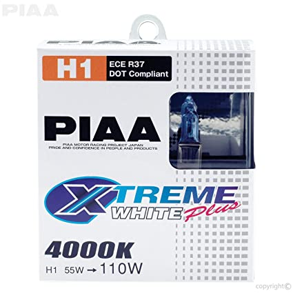 Amazon.com: PIAA 11655 H1 Xtreme White Plus High Performance Halogen Bulb, (Pack of 2): Automotive