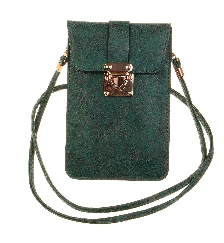 KISS GOLD (TM) Luxury Matte PU Leather Mini Crossbody Single Shoulder Bag Cellphone Pouch KGUVB-807-06
