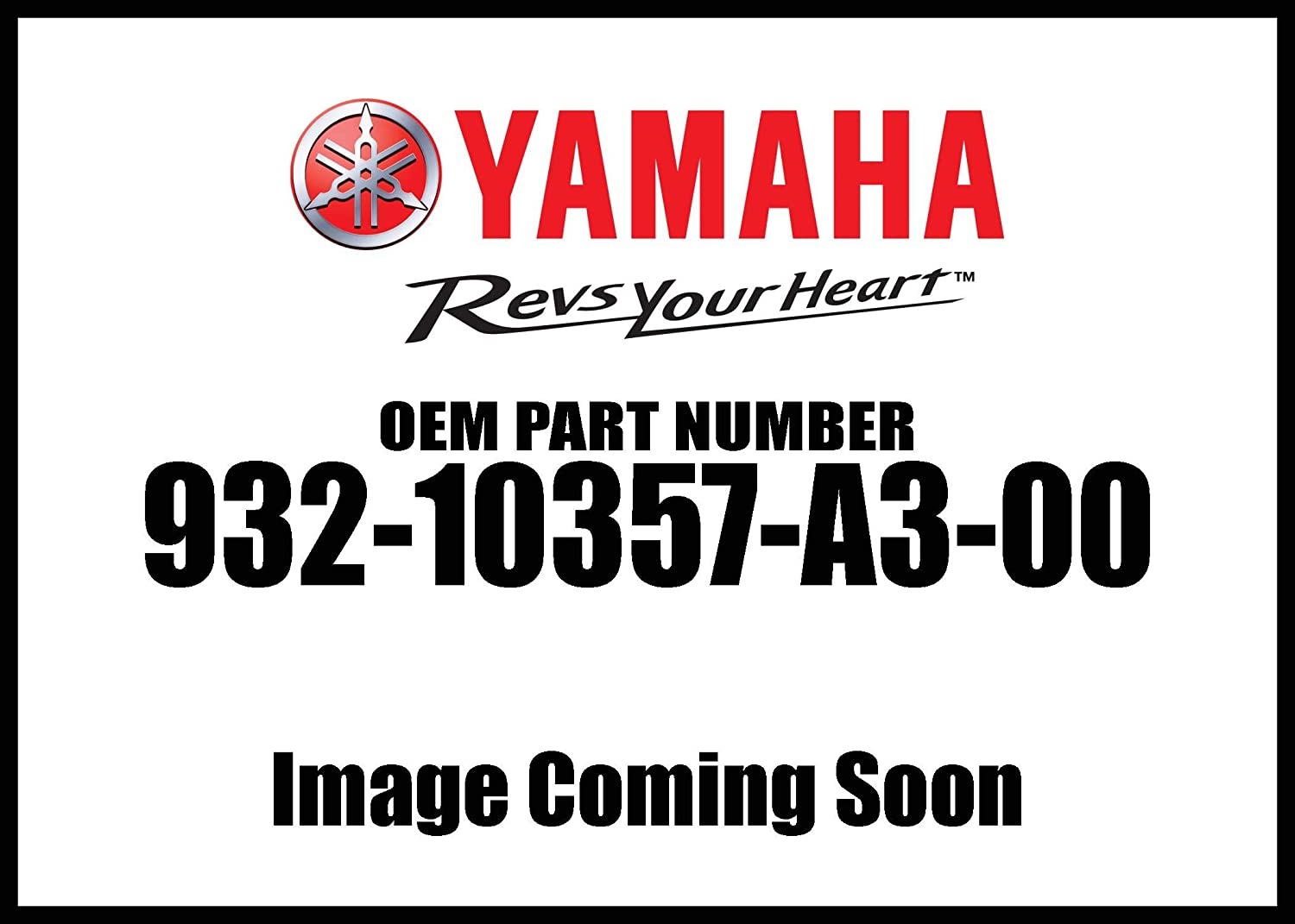 Yamaha 93210-357A3-00 O-RING; 93210357A300
