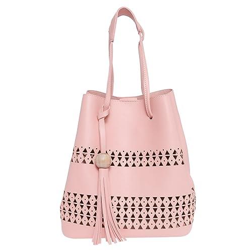 372c1bcda64f Fur Jaden Pink Laser Cut Bucket Sling Bag for Women  Amazon.in  Shoes    Handbags