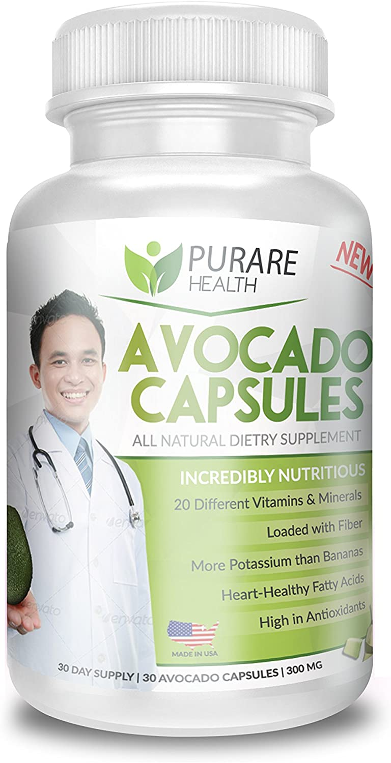 Purare Health Avocado Capsules 100 All Natural Dietary Supplement for Lowering Cholesterol and Triglyceride Levels 3