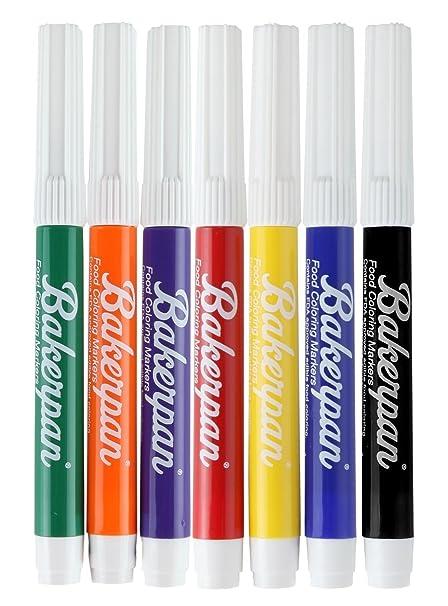 Amazon.com: Bakerpan Food Coloring Markers, Standard Tip, Multi ...