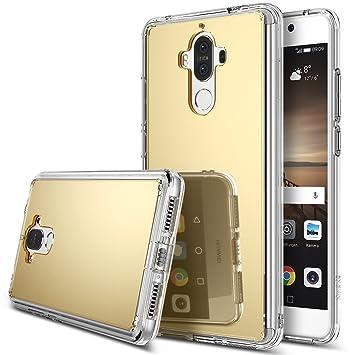 Ringke Funda Huawei Mate 9, [Fusion Mirror] Protector de Espejo Lujoso y Radiante Carcasa Protectora Fina y Elegante para Huawei Mate 9 - Oro Real ...