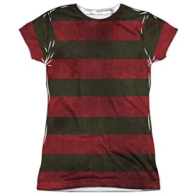 81bd5d741ae Amazon.com  TeeShirtPalace Junior Fit - Nightmare On Elm Street - Freddy  Krueger Sweater All Over Print T-Shirt  Clothing