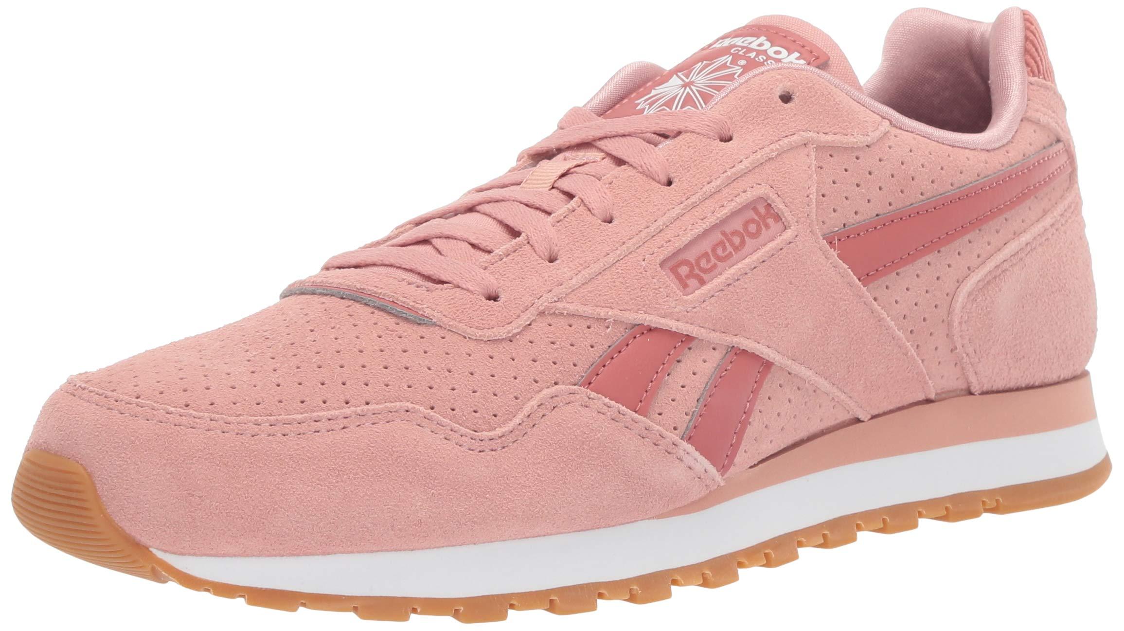 ویکالا · خرید  اصل اورجینال · خرید از آمازون · Reebok Women's Classic Harman Run Sneaker, Chalk Pink/Baked Clay/sea/White/Gum, 8 M US wekala · ویکالا