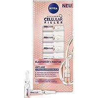NIVEA Cellulaire elasticiteit + contour 2-fasen ampullen kuur (7 x 1,2 ml), gezichtskuur met hyaluronzuur en elastine…