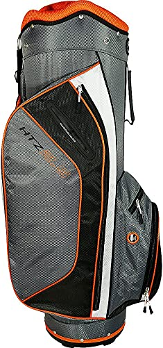 Palm Springs Golf Orange Silver 14 Way Divider Cart Bag