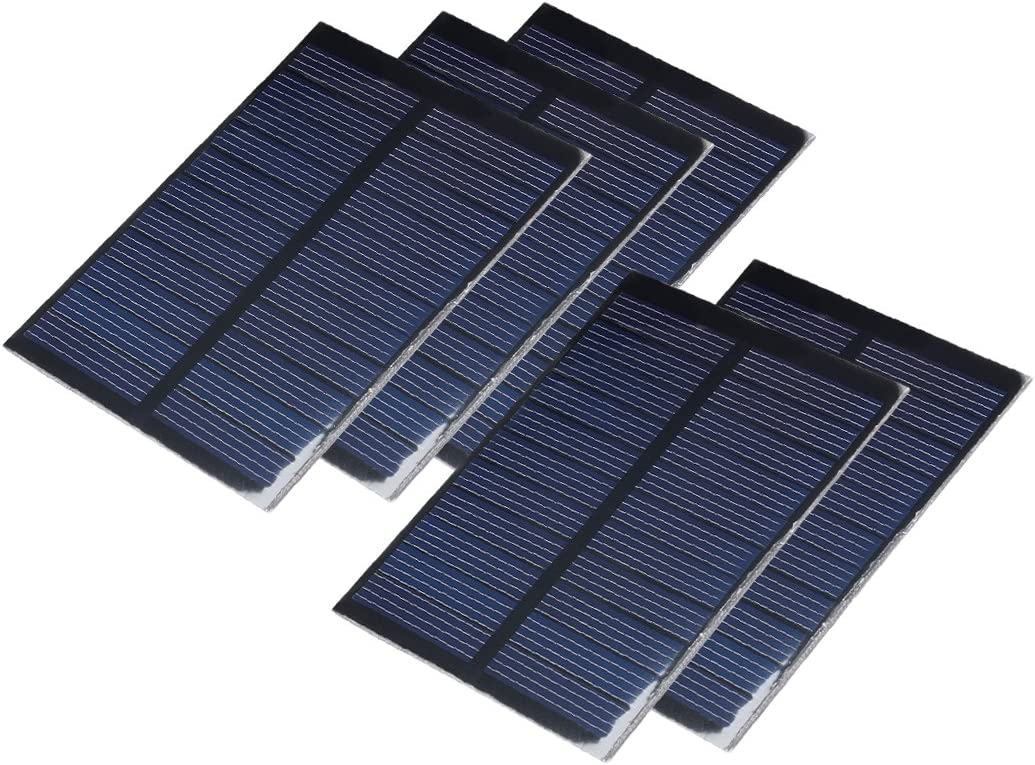 uxcell 5Pcs 5.5V 80mA Poly Mini Solar Cell Panel Module DIY for Phone Light Toys Charger 84mm X 61mm