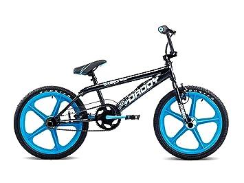 ccc10312cb2 Rooster Boy s Big Daddy Single Speed Freestyle BMX Bike with Aqua Blue  Skyways - (Black