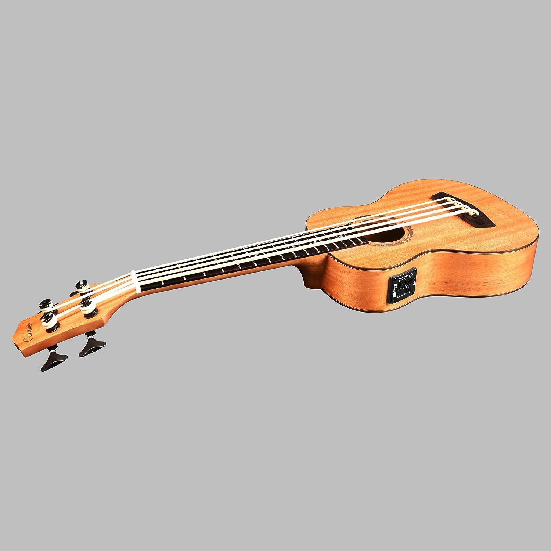 caramel cub400 solid mahogany top ukulele bass ubass with truss