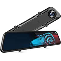 """VanTop H612T 12"""" 4K Mirror Dash Cam for Cars, Voice Control Full Touch Screen Rear View Mirror Camera, GPS Tracking…"""